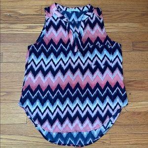 Gorgeous Blue & Pink Blouse